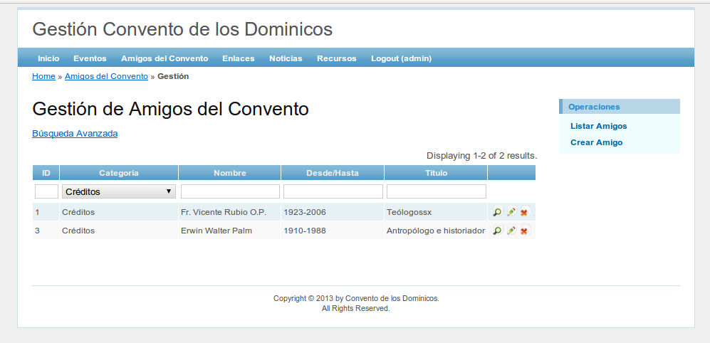 Covento Dominicos Backend